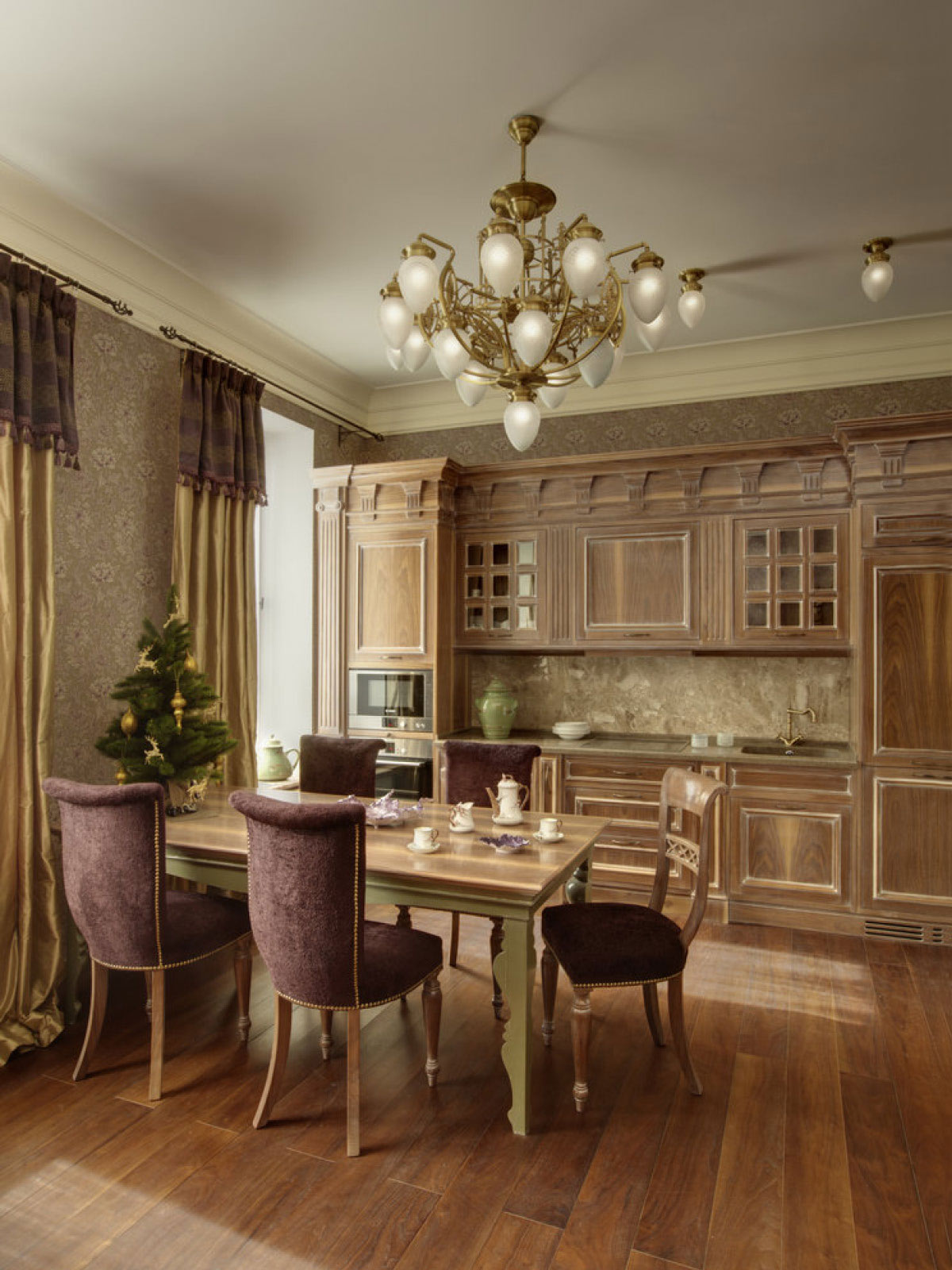 MOSCOW, Russia – Custom kitchen in private house