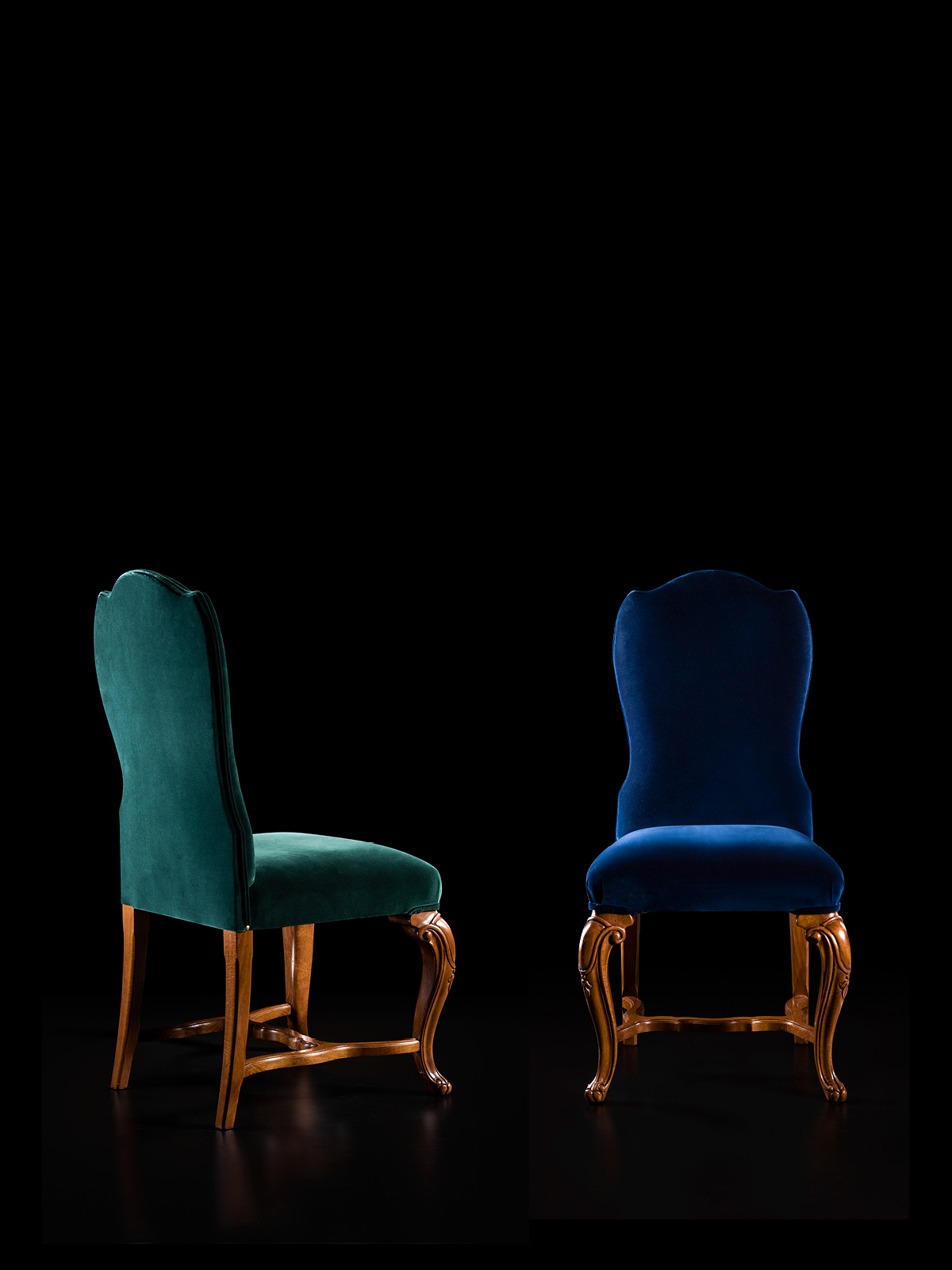 Chair with fabric Mod. 98/CF – 55 x 65 h 118 cm