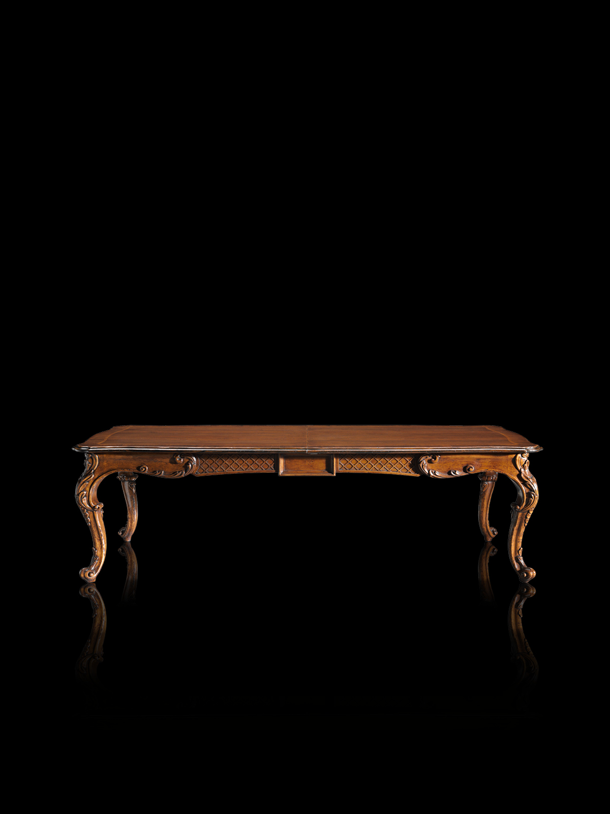 Table with leaves Mod. 813 – 248 (308/368) x 120 h 78 cm