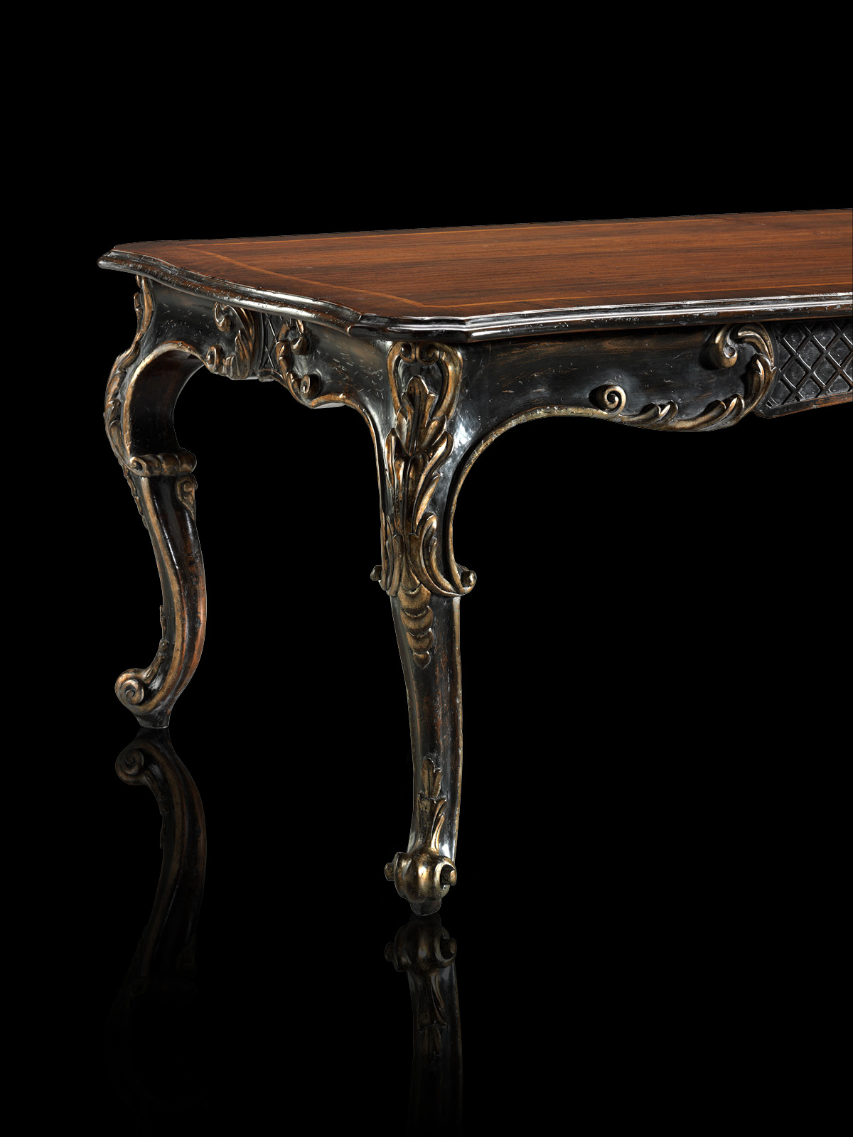 Table with leaves Mod. 813/N – 248 (308/368) x 120 h 78 cm