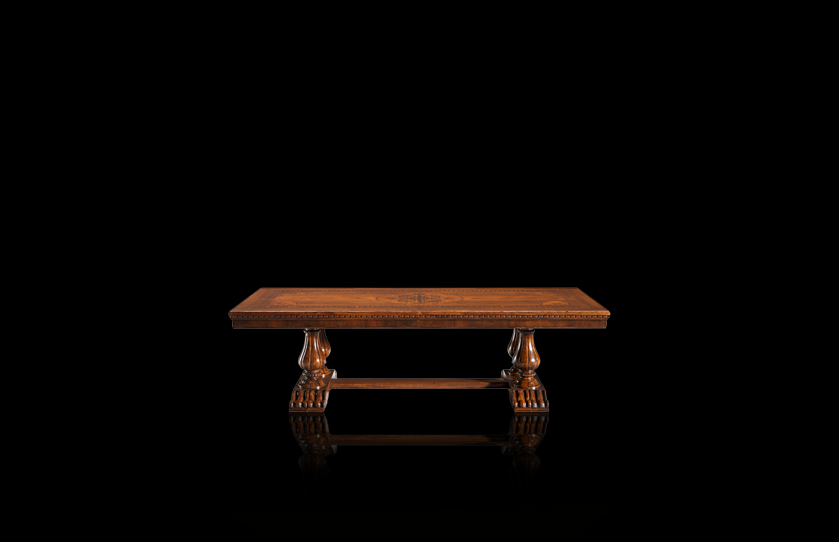 Table with leaves Mod. 852 – 284 (344/404/464/524) x 120 h 78 cm