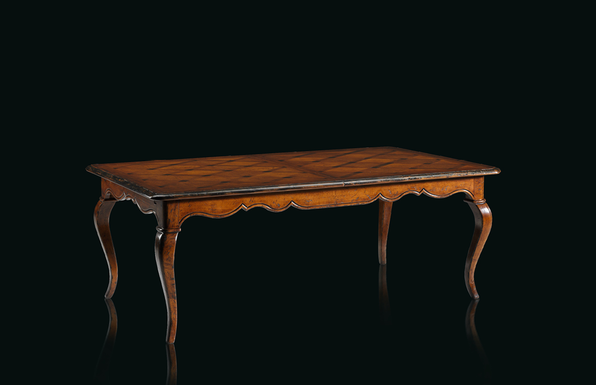 Table with leaves Mod. B-15 – 216 (276/336) x 120 h 78 cm