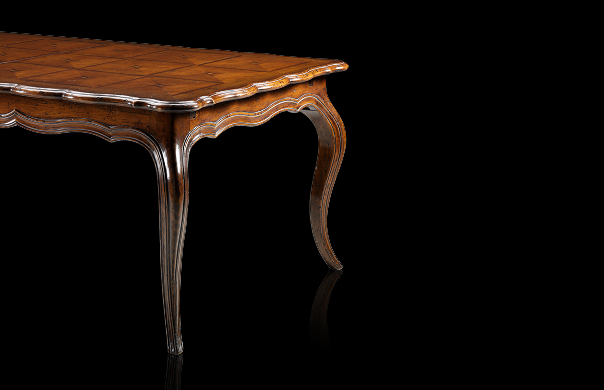 Table with leaves Mod. 845 – 216 (280/344) x 120 h 78 cm